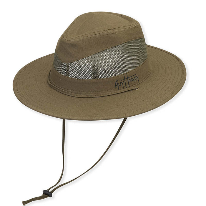 Mesh Crown Cotton Safari Hat - Guy Harvey®