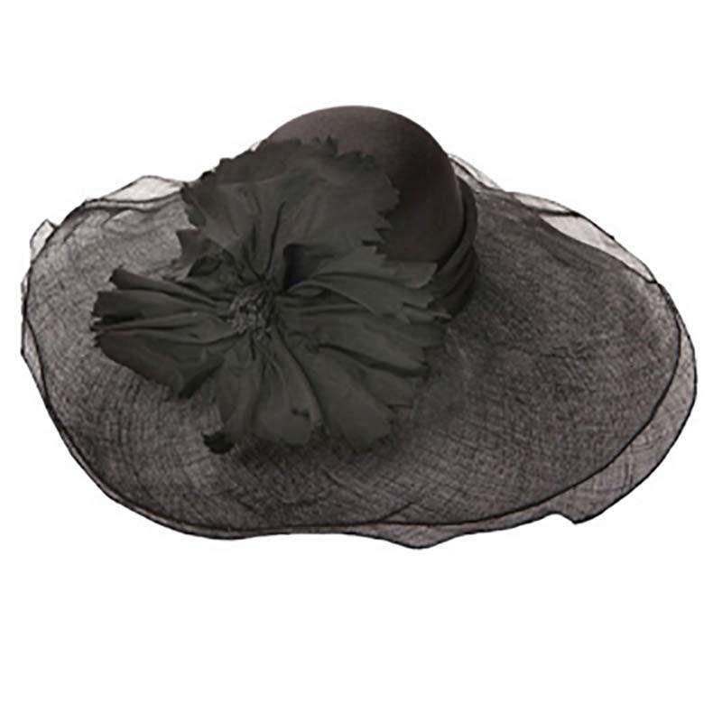 Sinamay Hat with Satin Crown - SetarTrading Hats