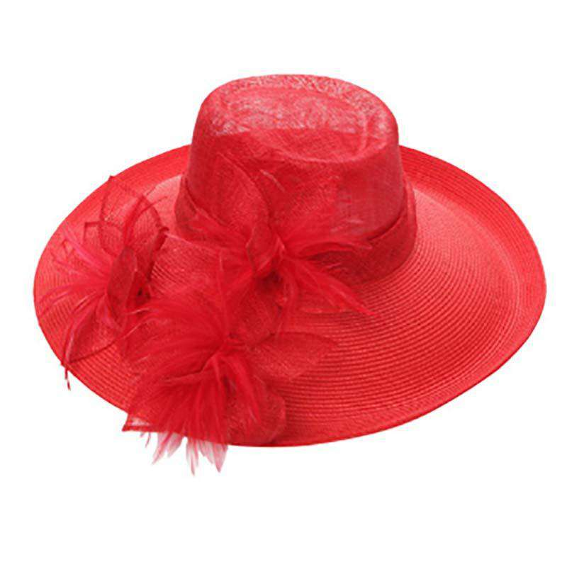 Sinamay Fedora Crown Fancy Hat - SetarTrading Hats