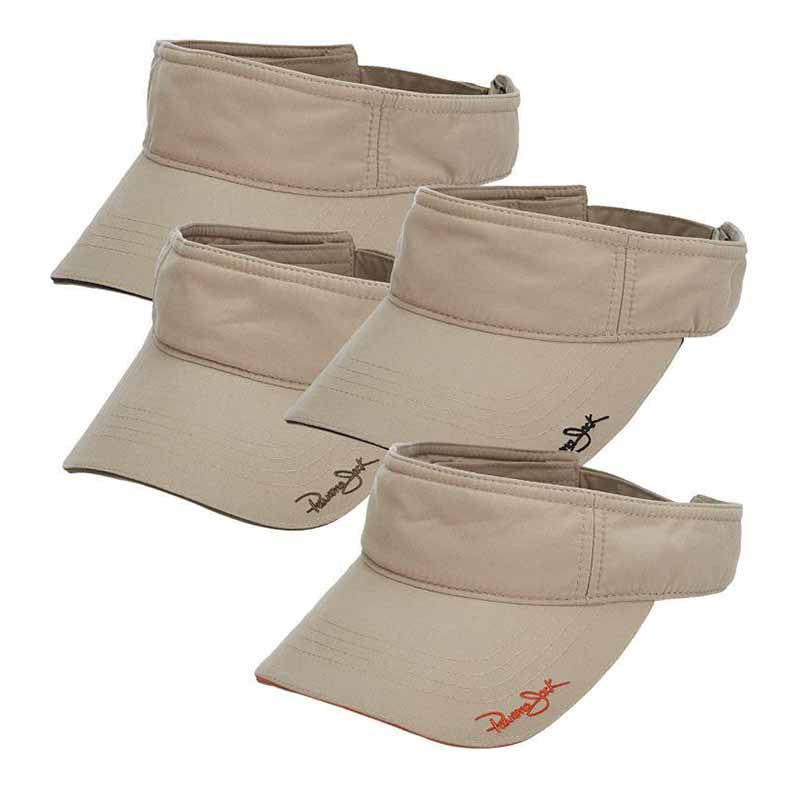 Microfiber Sun Visor with Piping - Panama Jack