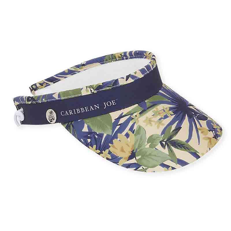 Flora Cotton Sun Visor with Coil - Caribbean Joe® - SetarTrading Hats
