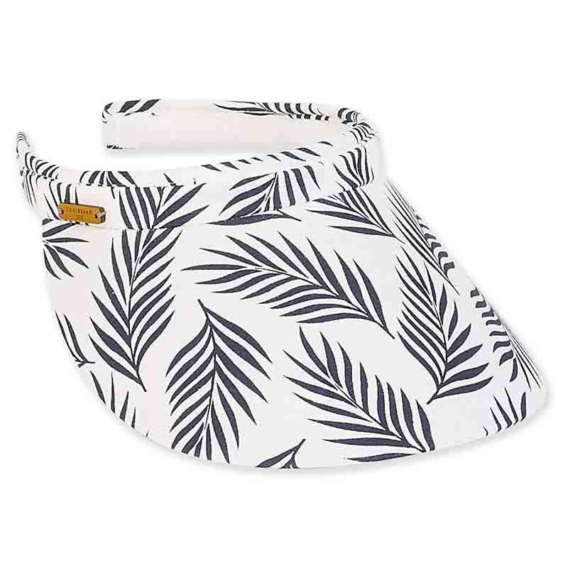 Piper Clip On Cotton Sun Visor - Caribbean Joe