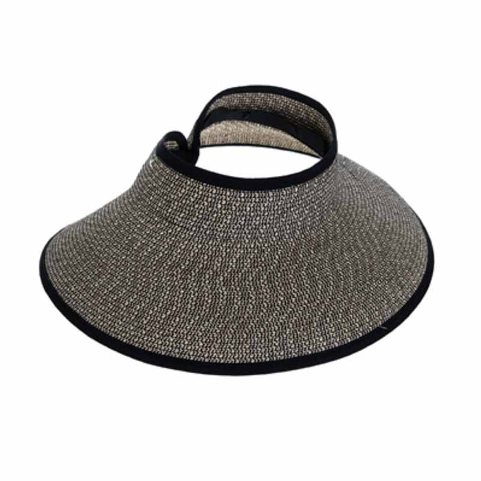 Heathered Roll Up Sun Visor Hat - Boardwalk Style