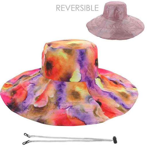 Reversible Sun Hat - Floral Print and Solid Color