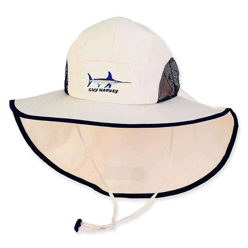 Flap Cap with Wide Sun Shield by Guy Harvey