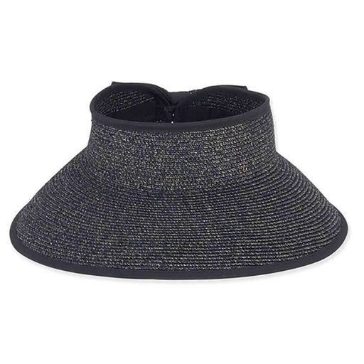 Metallic Tweed Wrap Around Sun Visor Hat - Sun 'n' Sand