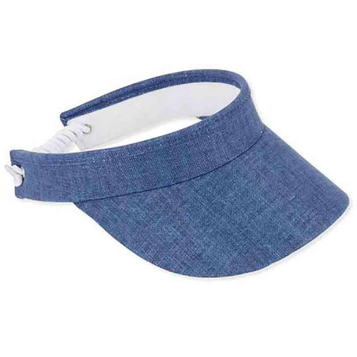 Cotton Linen Sun Visor with Coil Closure - Sun 'N' Sand - SetarTrading Hats