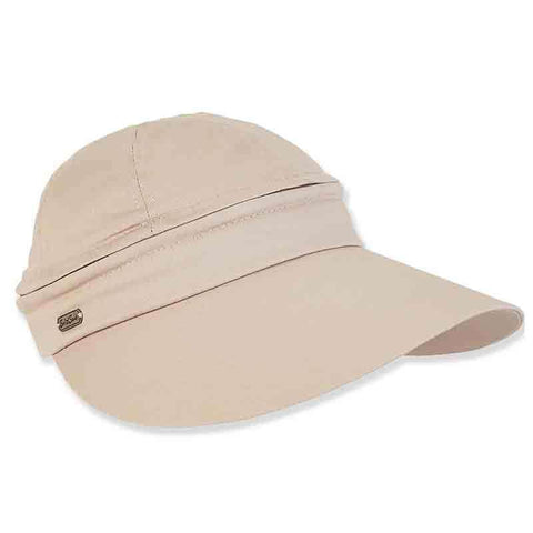 Detachable Crown Cotton Sun Visor Cap by Sun 'N' Sand