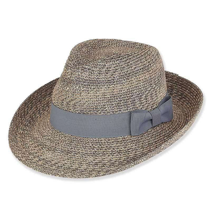 XL Size Hats: Tweed Summer Fedora Hat - Jeanne Simmons Accessories