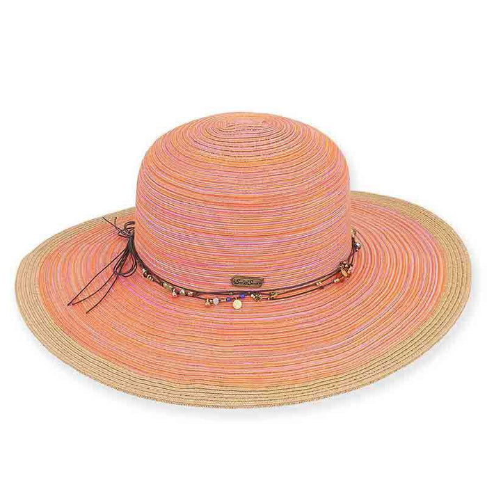 Rochelle Summer Floppy Hat with Beaded Band - Sun 'n' Sand®