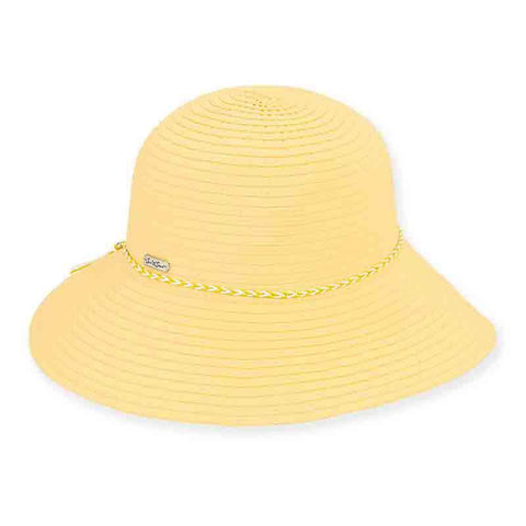 Parfeit Ribbon Hat with Braided Rope Tie - Sun 'n' Sand