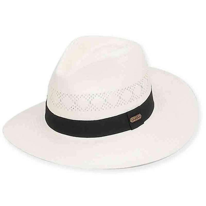 Carlisle Safari Hat with Grosgrain Ribbon Band - Sun 'n' Sand® - SetarTrading Hats