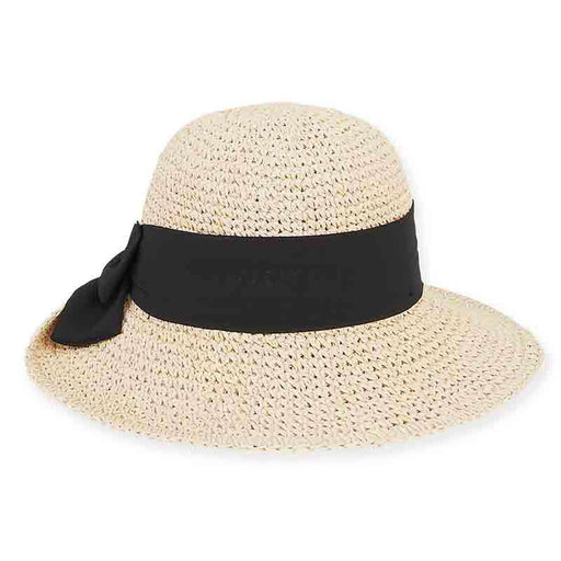 Benbow Crochet Hat with Chiffon Scarf - Sun 'n' Sand® - SetarTrading Hats