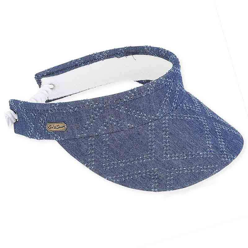 Hailey Denim Sun Visor with Coil Closure - Sun 'N' Sand