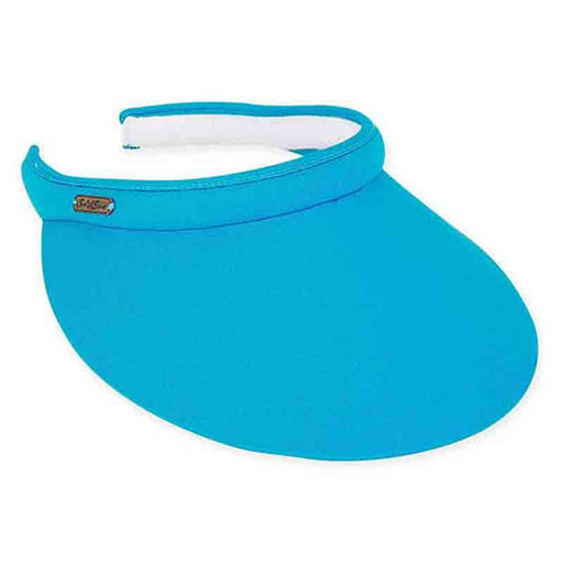 "Large Bill Cotton Clip-On Sun Visor- 5"" by Sun 'N' Sand"
