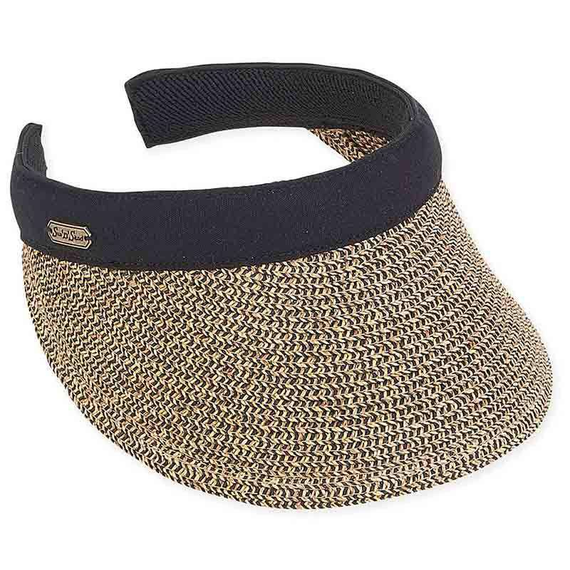 Giana Tweed Braid Clip-On Sun Visor by Sun 'N' Sand