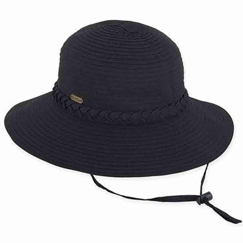 Charlie Ribbon Bucket Hat with Chin Cord by Sun 'N' Sand