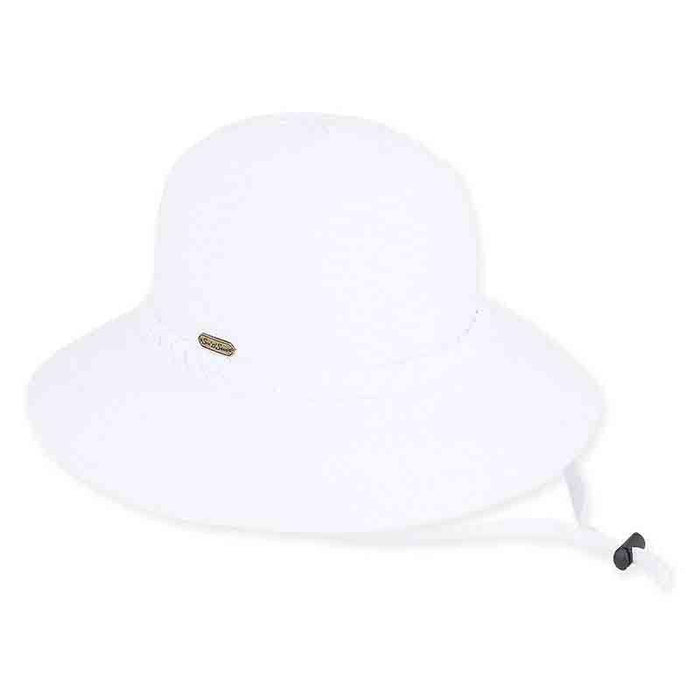 Charlie Ribbon Bucket Hat with Chin Cord by Sun 'N' Sand - SetarTrading Hats