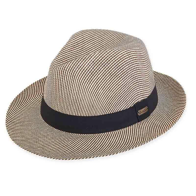 Carter Striped Fedora - Sun 'n' Sand® - SetarTrading Hats