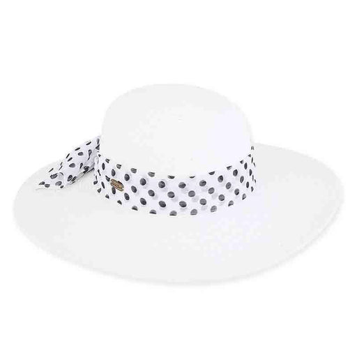 Nora Summer Hat with Polka Dot Scarf - Sun 'n' Sand®