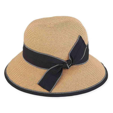 Ava Summer Hat with Stitched Ribbon Band - Sun 'n' Sand® - SetarTrading Hats