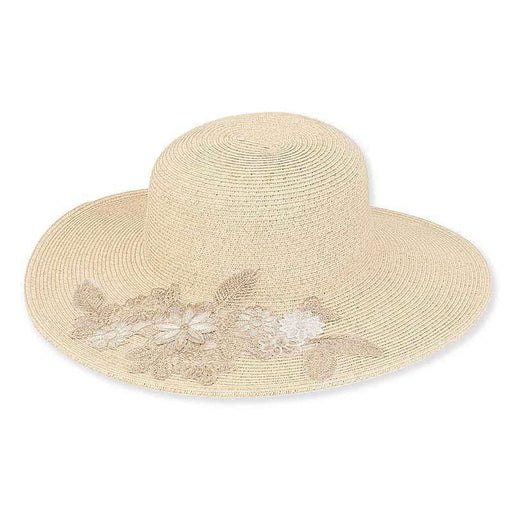 Girona Embroided Brim Summer Floppy Hat - Sun'N'Sand®