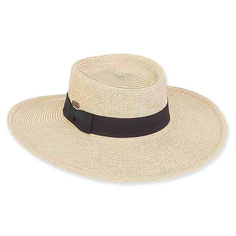 Chitre Flat Crown Summer Gaucho Hat - Sun 'n' Sand