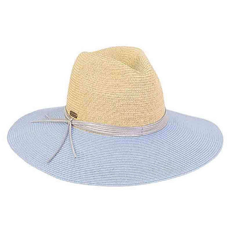 Dori Two Tone Safari Hat with Metallic Band - Sun 'n' Sand