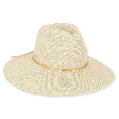 Allie Wide Brim Metallic Braid Safari Hat - Sun'N'Sand® - SetarTrading Hats