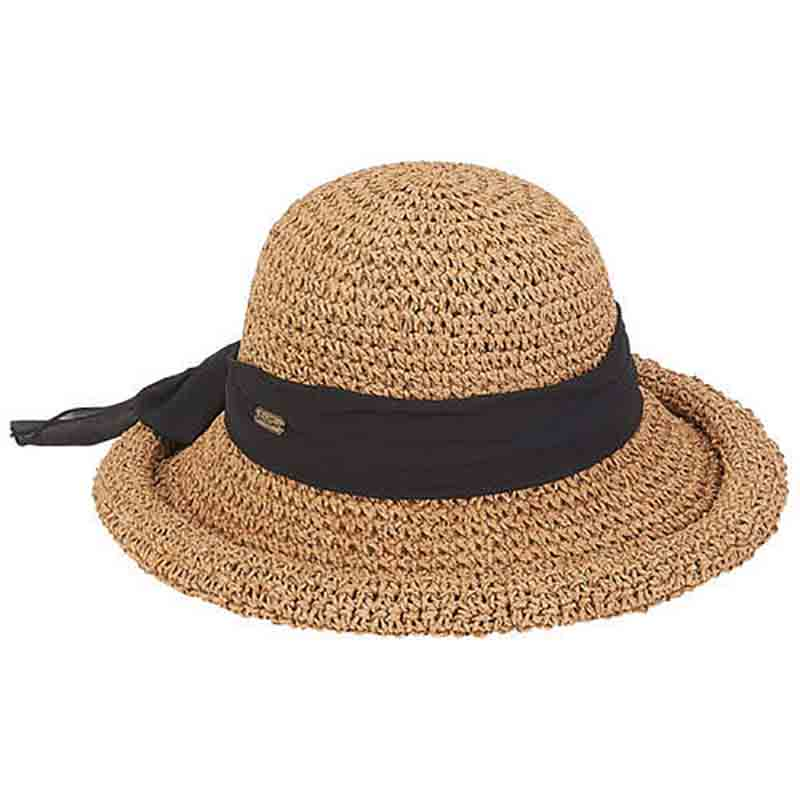 Nia Crochet Toyo Rolled Brim Summer Hat