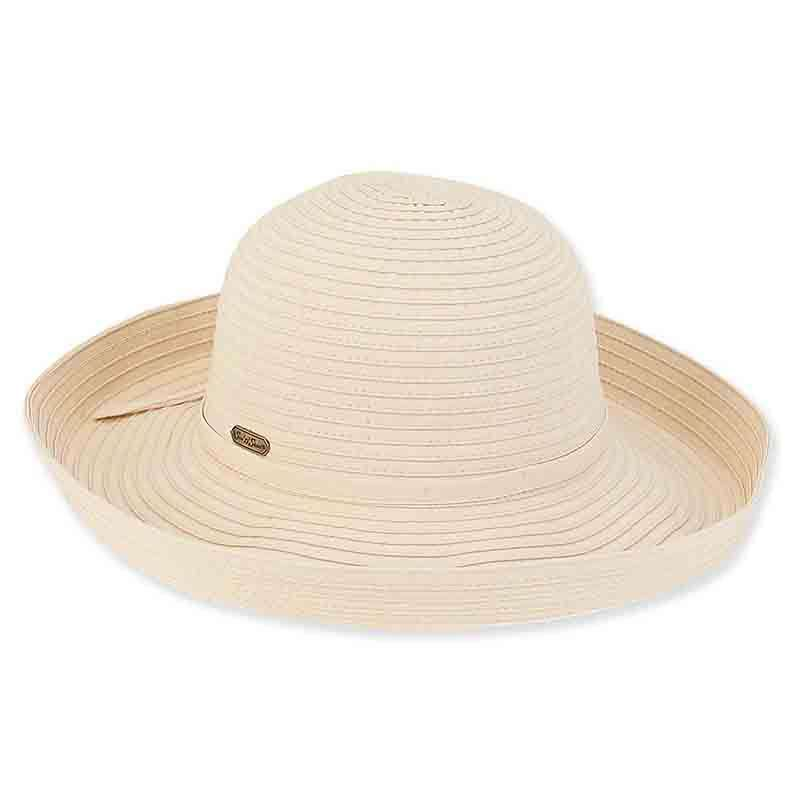 Maisie Up Brim Ribbon Sun Hat - Sun'n'Sand
