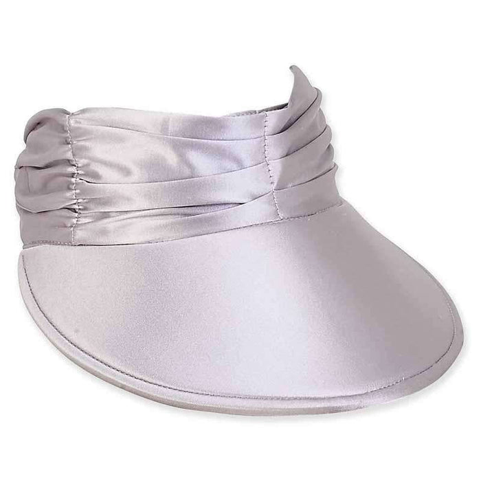 Tara Metallic Lycra Floating Sun Visor Hat by Sun 'N' Sand