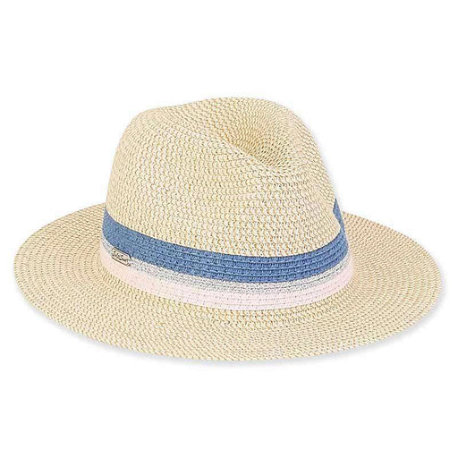 Lana Metallic Band Summer Fedora Hat - Sun 'n' Sand®