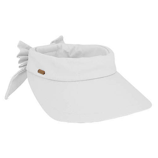 Cotton Wide Brim Sun Visor with Bow - Sun 'N' Sand - SetarTrading Hats