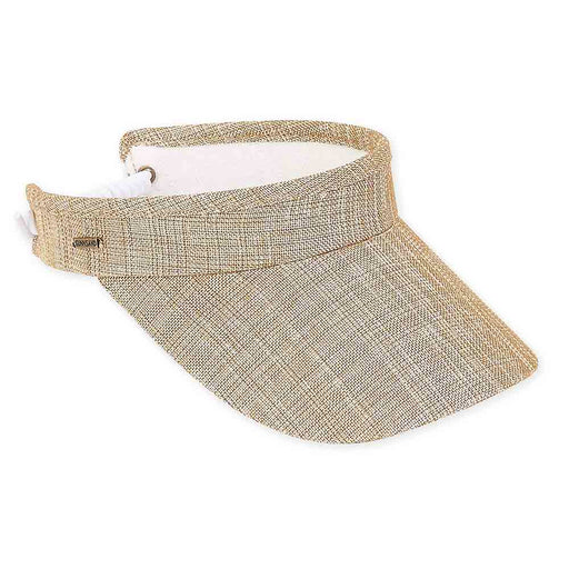 Metallic Textured Cotton Sun Visor with Coil Closure - Sun 'N' Sand