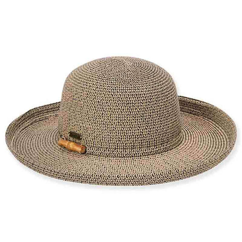 Bondi Up Turned Brim Sun Hat with Bamboo Detail - Sun 'n' Sand