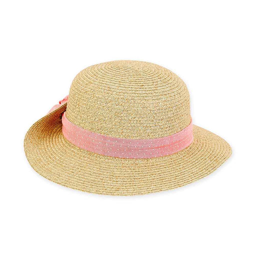 Petite Size Sun Hat with Pinned Up Brim - Sunny Dayz™