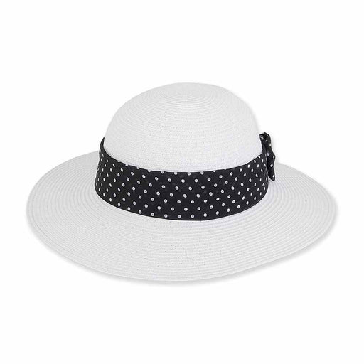 Petite Sun Hat with Polka Dot Band - Sunny Dayz™