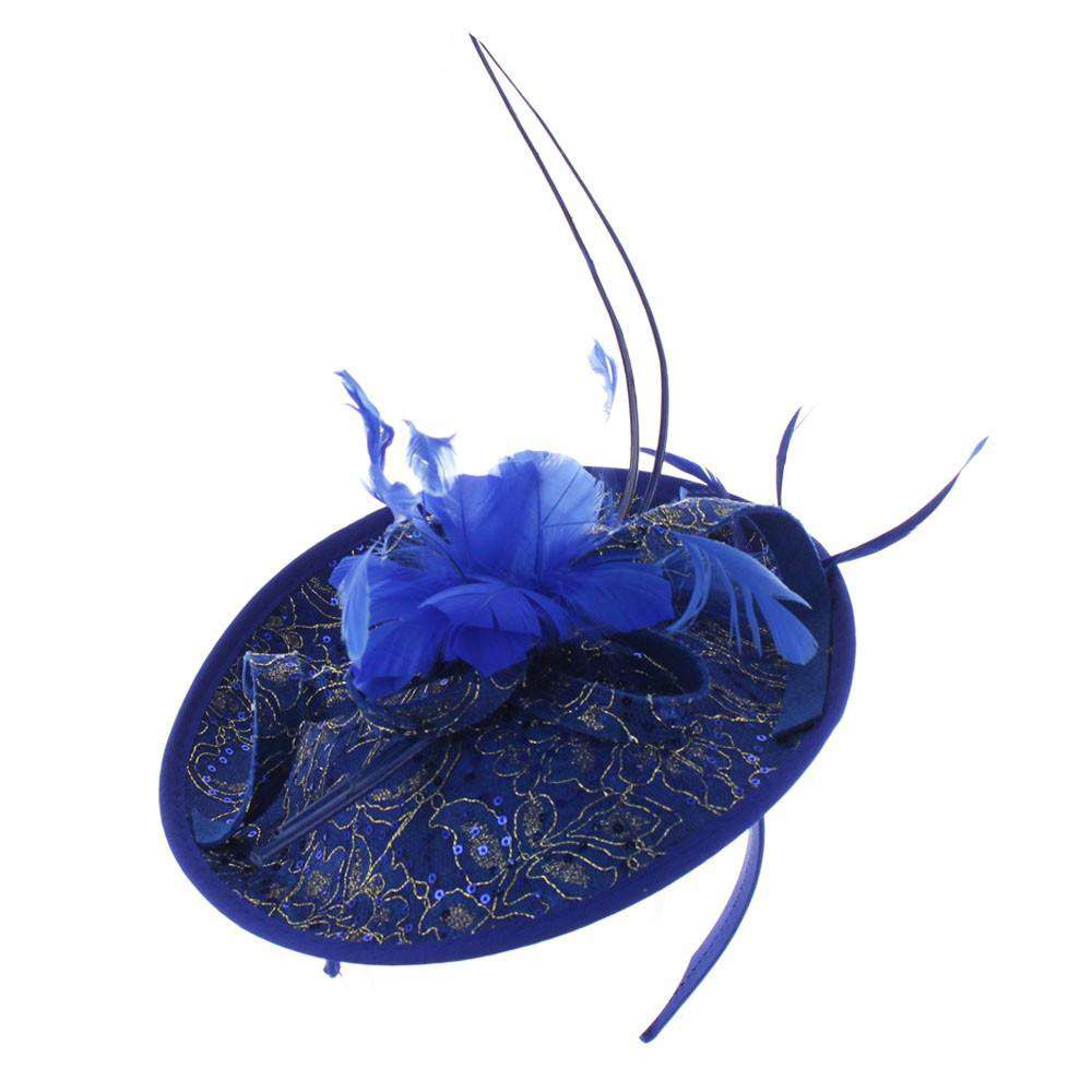 Sequin and Lace Fascinator - SetarTrading Hats