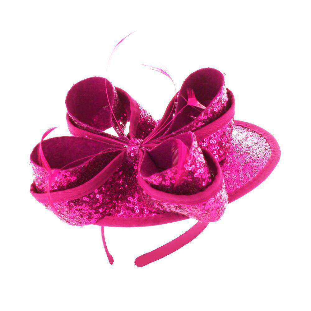 Sequin Bow Fascinator - SetarTrading Hats