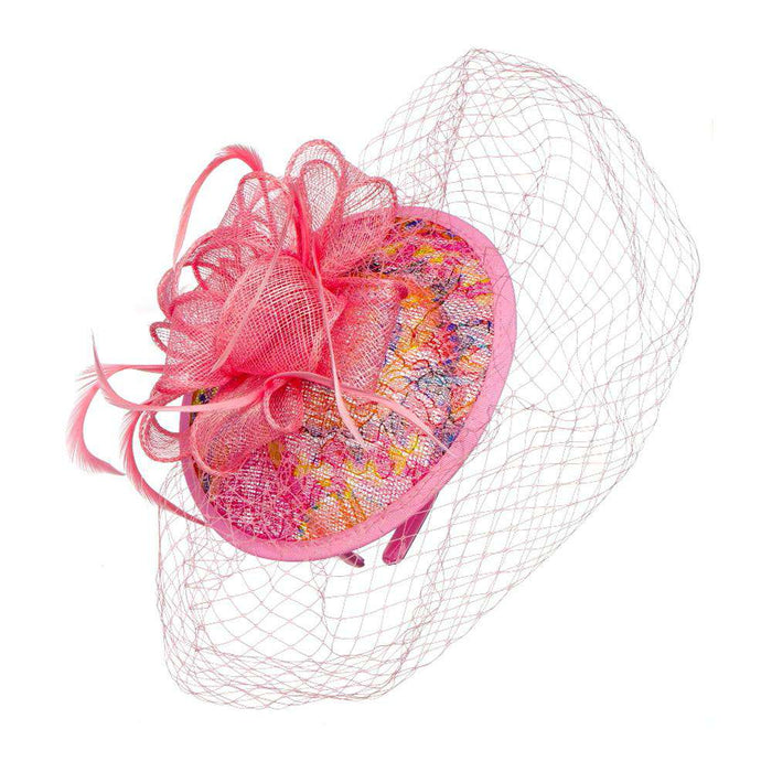 Sinamay and Lace Fascinator - SetarTrading Hats