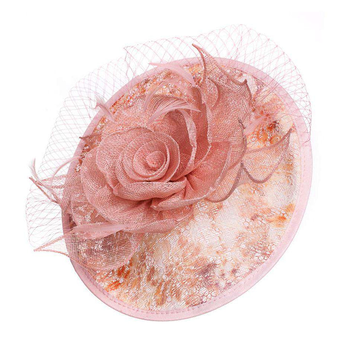 Sinamay Rose Fascinator - SetarTrading Hats