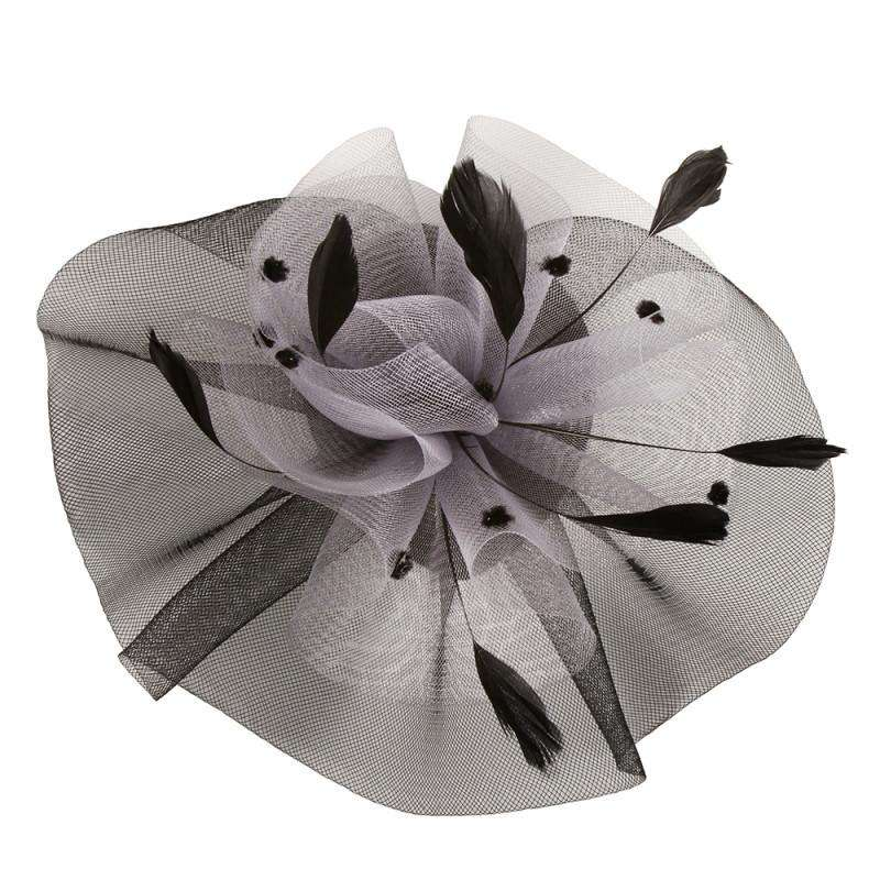 Dotted Ruffle Mesh Fascinator - SetarTrading Hats