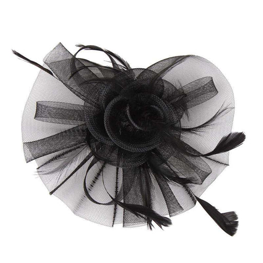 Ruffle Mesh Flower Fascinator - SetarTrading Hats