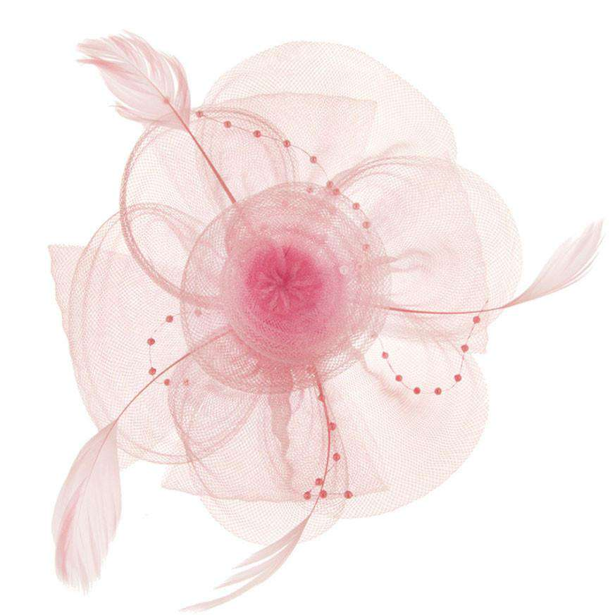 Mesh Flower and Beads Fascinator - SetarTrading Hats
