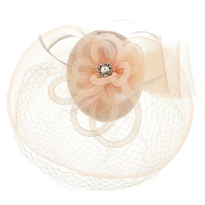 Rhinestone Flower Center Fascinator - SetarTrading Hats