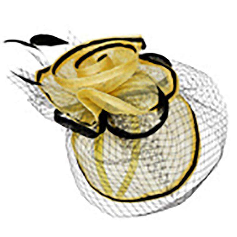 Layered Sinamay Fascinator with Contrast Trim - SetarTrading Hats