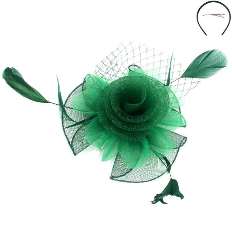 Tulle and Netting Flower Fascinator - Sophia Collection