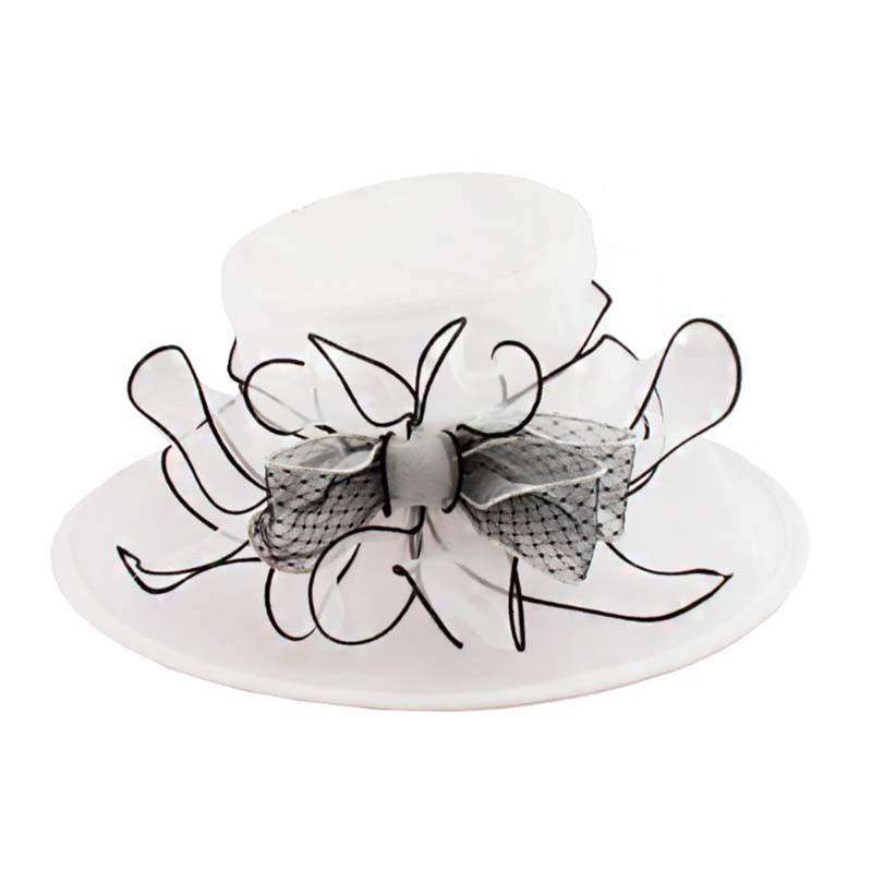 Polka Dot Bow Organza Hat - SetarTrading Hats