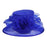 Floral Center Medium Brim Organza Hat - Something Special Hat Collection